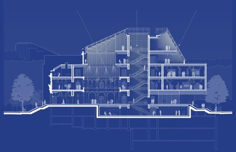The Harvard Art Museums. Drawing by Renzo Piano Building Workshop