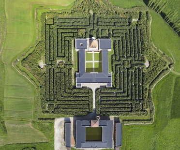 Das Labyrinth der Masone in Fontanellato, Parma, das größte der Welt