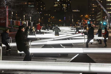 Luminotherapie Impulsion Licht- und Klanginstallation in Montreal