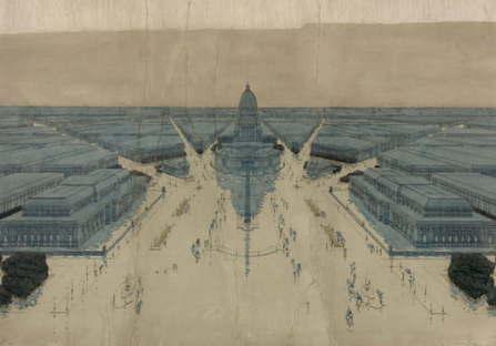Jules Guerin's painting of Burnham & Bennett's Plan for post-fire Chicago,1909