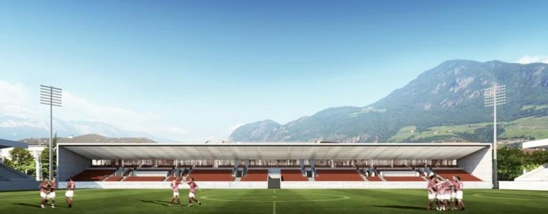 gmp Erweiterung Drusus-Stadion Bozen