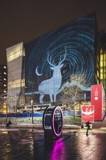 Luminothérapie Loop Riesenräder und Lichtspiele in Montréal