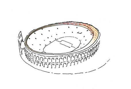 gmp und sbp Die neue Überdachung der Arena von Verona