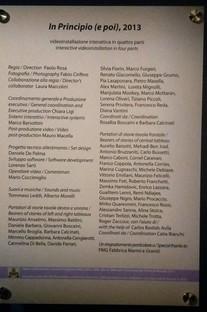 In Principio (e poi) Sala Studio Azzurro Vatikanische Museen