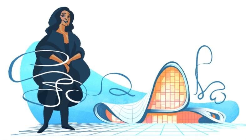 Ein Doodle für Zaha Hadid