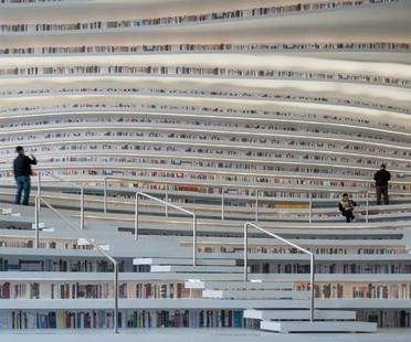 MVRDV Tianjin Binhai Library ein Büchermeer