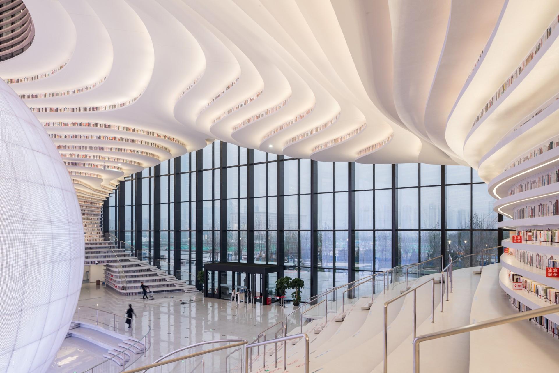 MVRDV Tianjin Binhai Library ein Buechermeer | Floornature