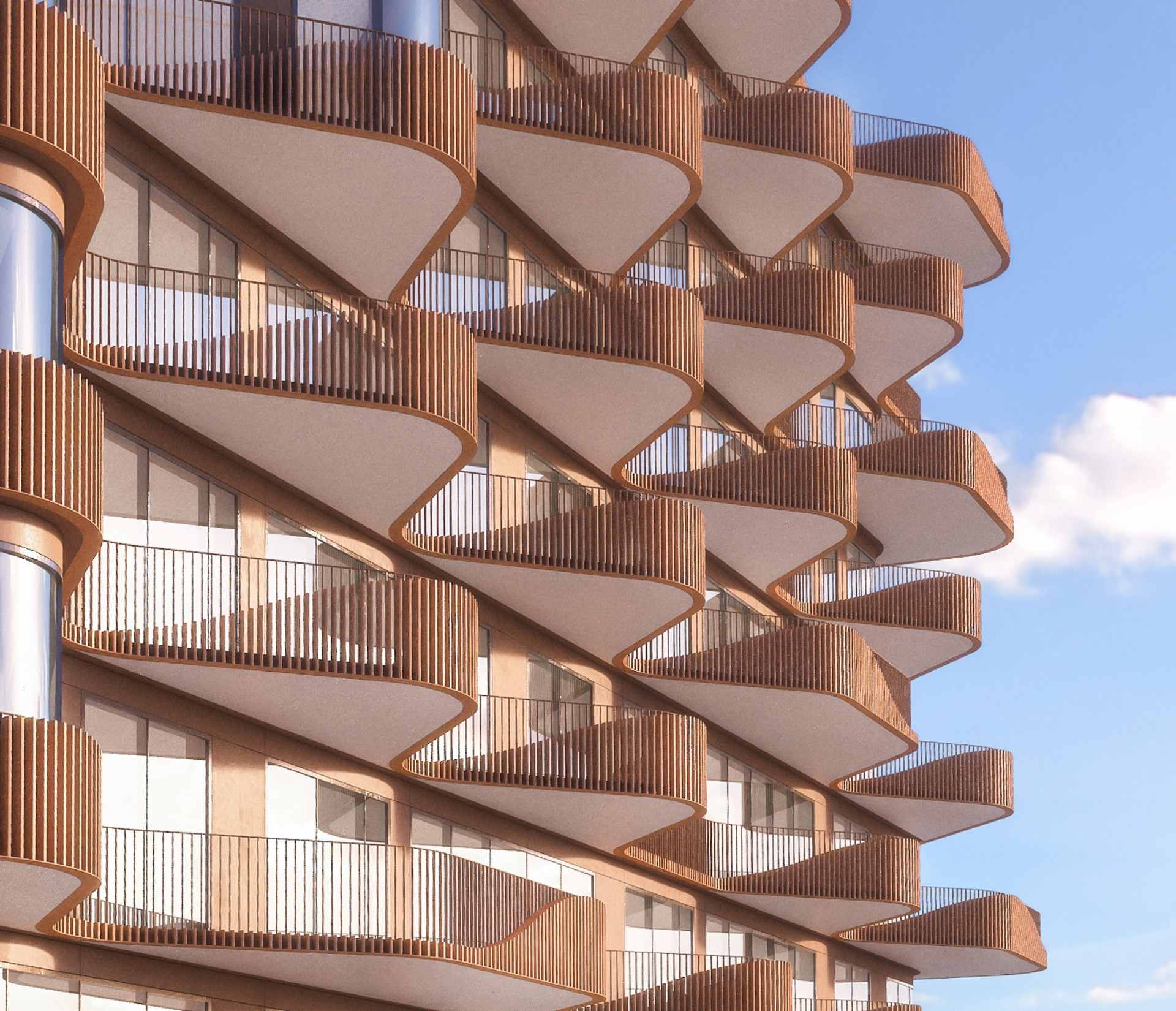 Aquabella und Aqualuna zwei Wohnunsbauprojekte von 3XN Architects für Toronto