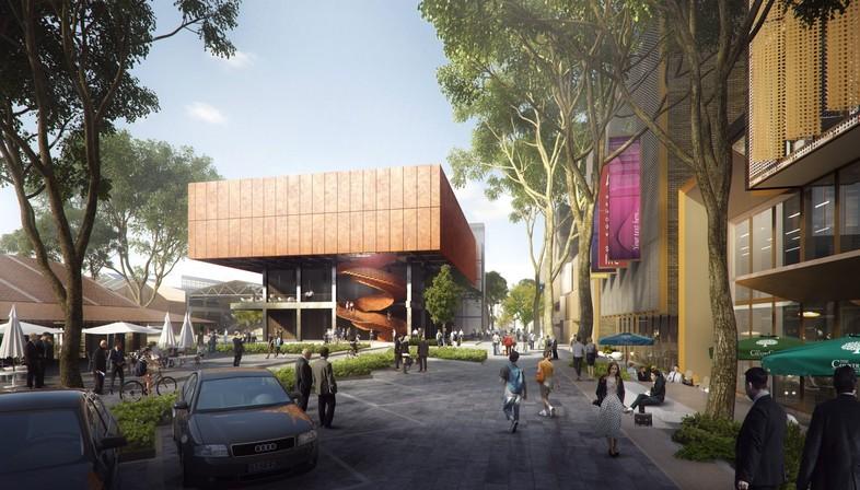 Das neue Finanz- und Handelszentrum in Shanghai, entworfen von Ennead Architects.