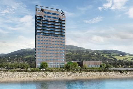 Mjøstårnet das höchste Holzhochhaus der Welt