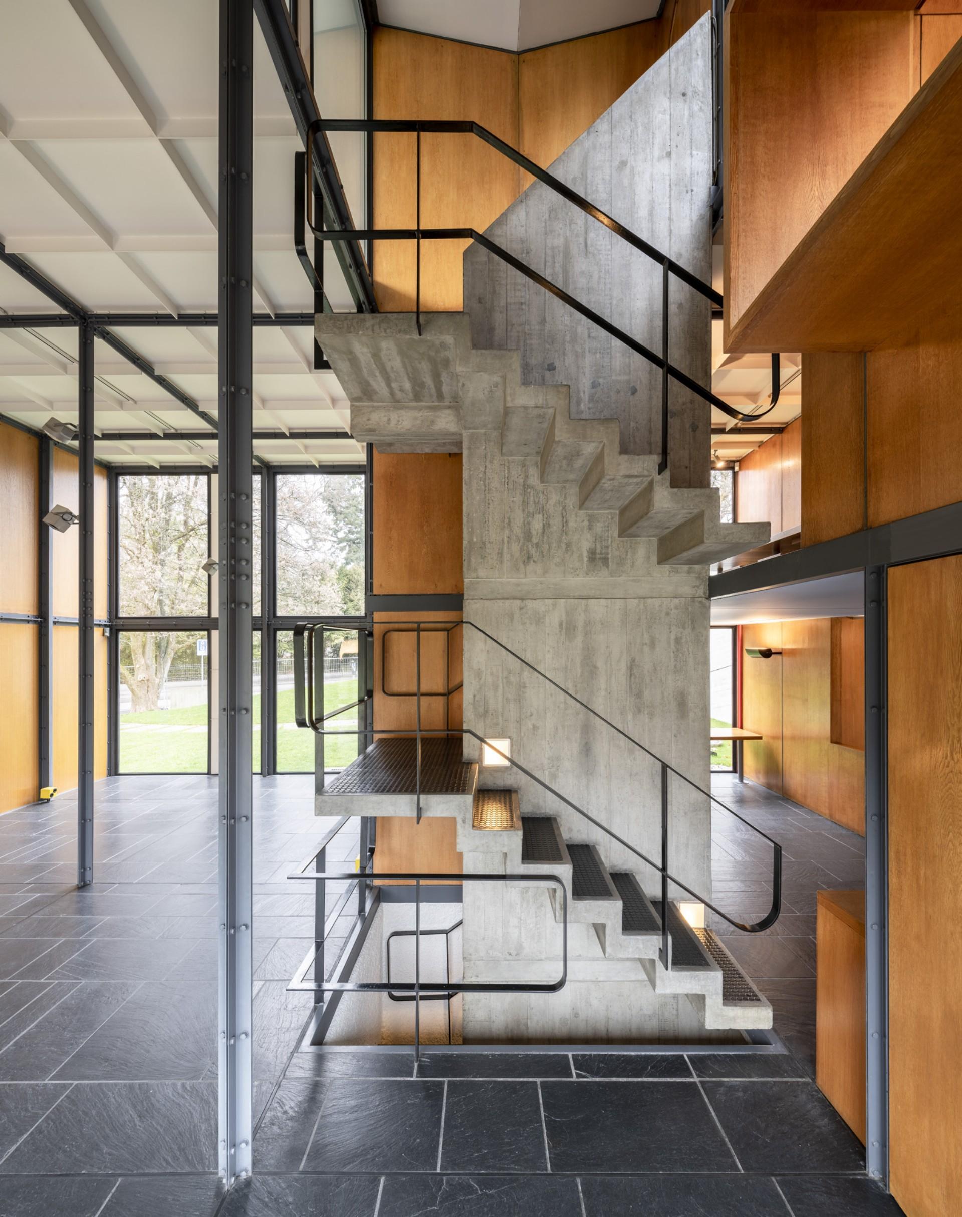 Wiedereroeffnung des Pavillons Le Corbusier in Zuerich mit der ...