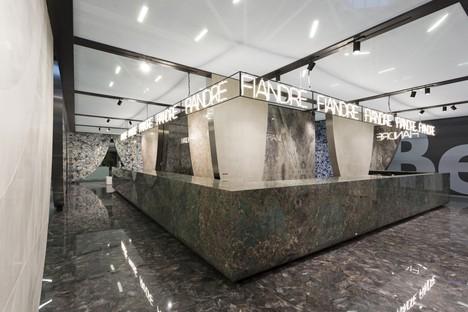 Die neuen Platten und die Stände von Iris Ceramica Group auf der CERSAIE 2019
