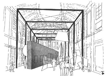 Alvisi Kirimoto gestaltet den Aufbau der Ausstellung EMILIO VEDOVA im Palazzo Reale in Mailand.
