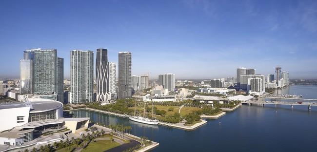 Zaha Hadid Architects One Thousand Museum ein Wolkenkratzer mit Exoskelett in Miami