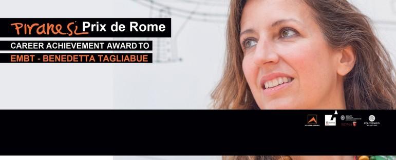An Benedetta Tagliabue Büro EMBT den Preis für das Lebenswerk Piranesi Prix de Rome