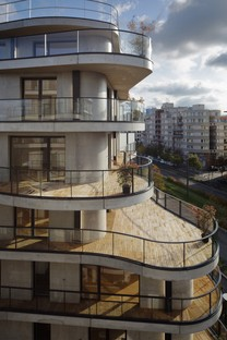Christophe Rousselle Architecte Courbes Wohnbauten in Colombes Frankreich