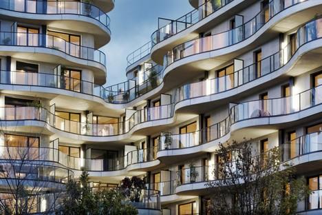 Christophe Rousselle Architecte Courbes Wohnbauten in Colombes Frankreich