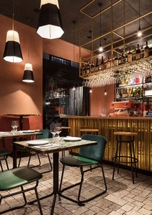 Vudafieri-Saverino Partners RØST Innenarchitektur für ein Restaurant in Mailand