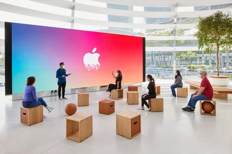 Foster and Partners Apple Marina Bay Sands in Singapur ein Store auf dem Wasser
