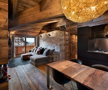 Giuseppe Tortato Architetti, Innenarchitektur einer Berghütte in den Alpen