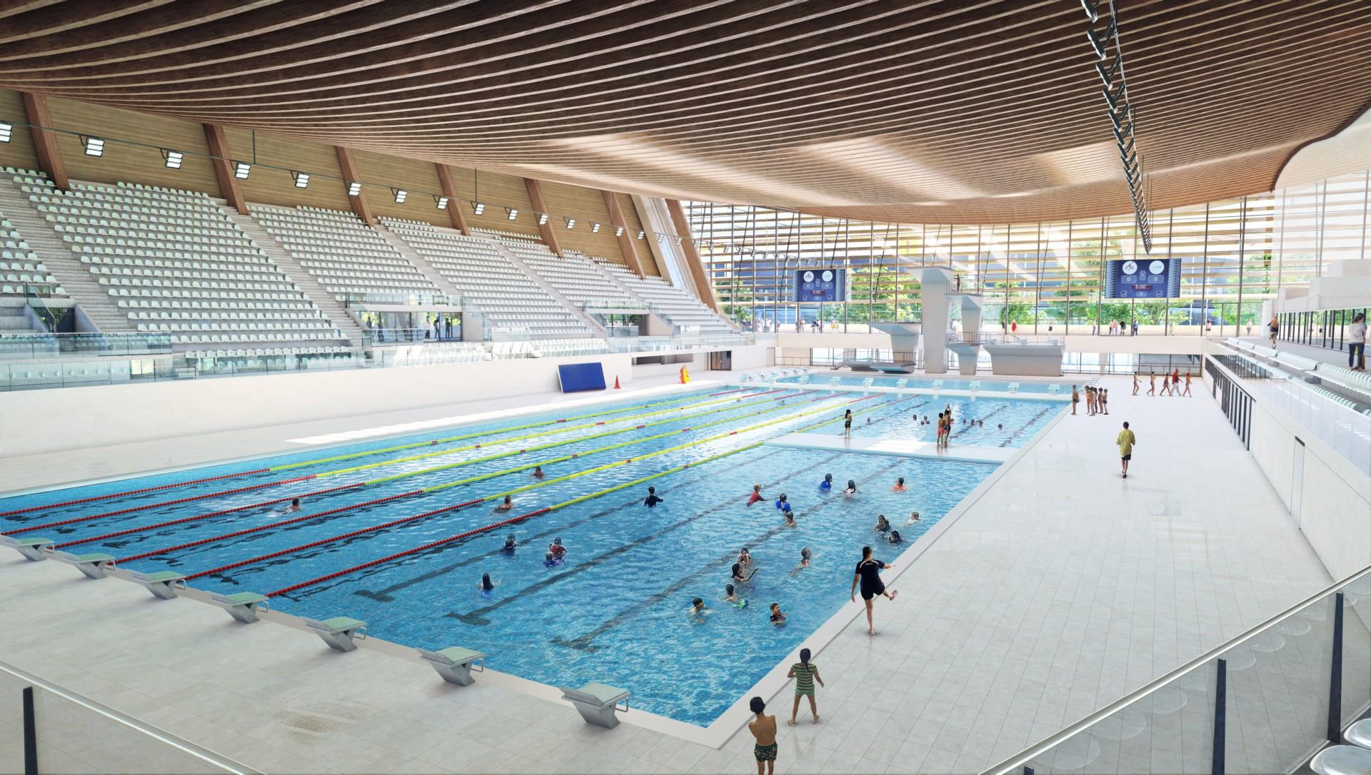 VenhoevenCS Ateliers 20/20/20/ Aquatic Centre fuer Olympiade Paris ...
