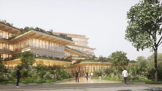 Kengo Kuma & Associates entwerfen das Büro der Zukunft in Mailand