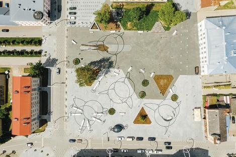 Pavillon von Estland Ausstellung Square! Positively Shrinking auf der Architekturbiennale von Venedig 2021