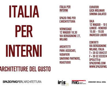 Ausstellung ITALIA PER INTERNI - Architekturen des Geschmacks