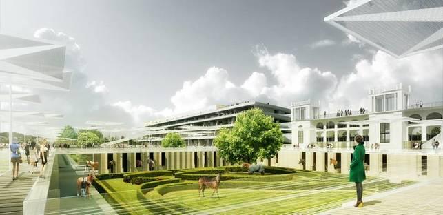 Perrault, die neue Pferderennbahn von Longchamp