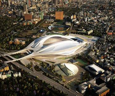 Zaha Hadid Architects, New National Stadium, Tokio