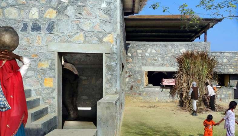 RMA Architects, Hathigaon, Wohnanlage für Elefanten und ihre Mahuts