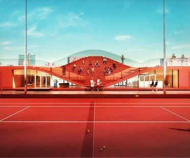MVRDV,  The Couch Tennisclub IJburg, Amsterdam