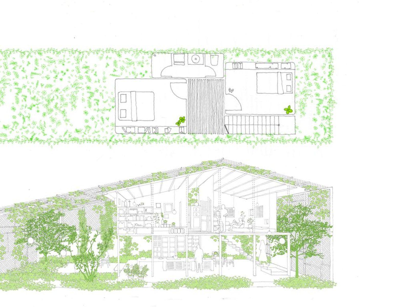 a21studio entwirft The Nest ein Haus fuer einen Journalisten in Ho ...