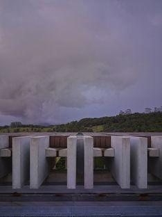 Lune de Sang Shed in den Wäldern Australiens
