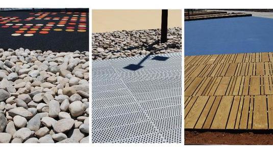 Aussichtsplattform und Schutzbau des Parque Genovés in Cadiz
