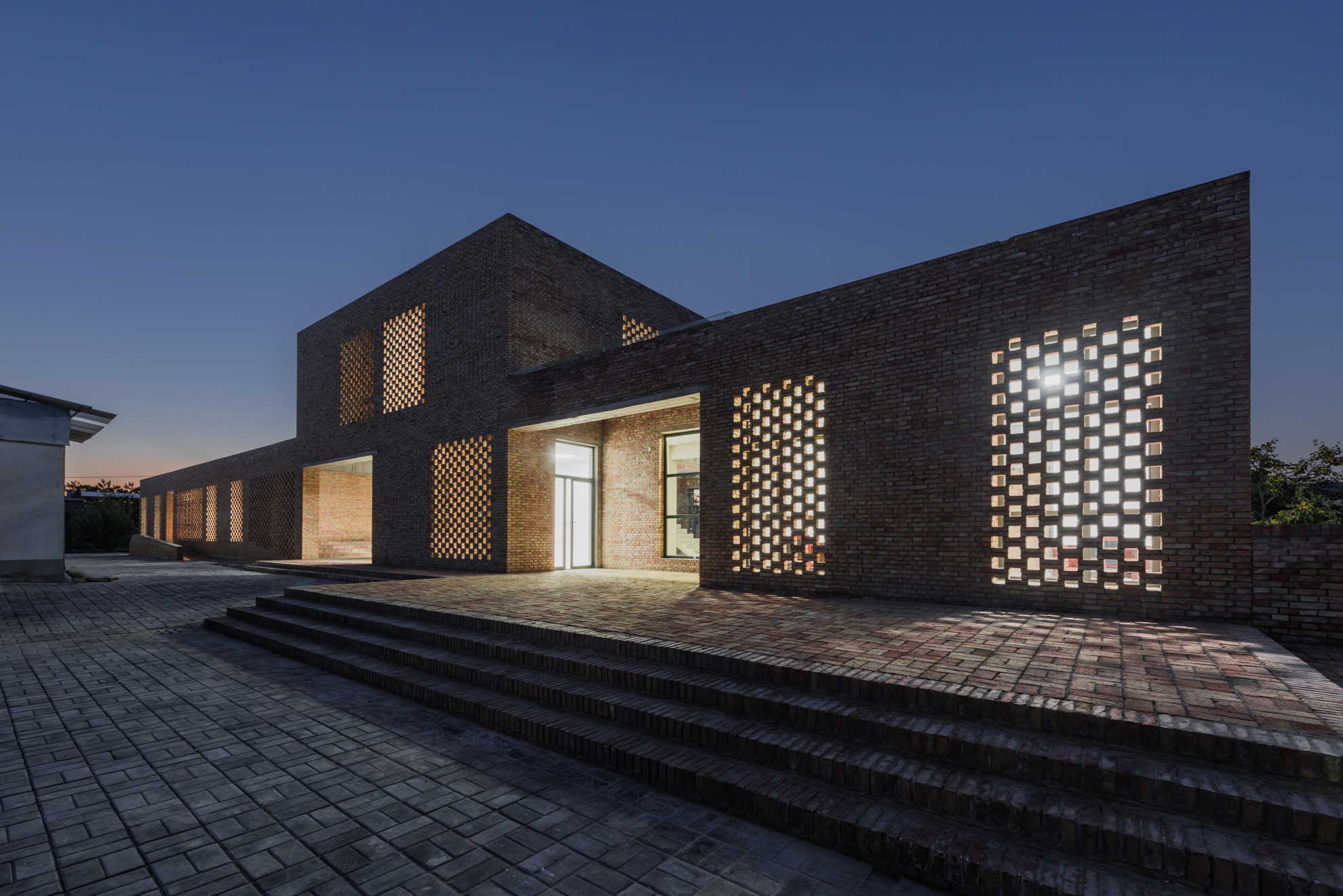 Wall Architects Village Center In Sanhe China Floornature