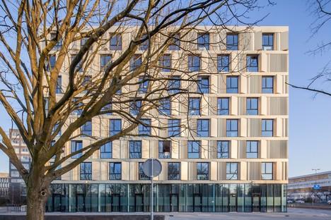 Mecanoo hat das neue Studentenwohnheim der Erasmus Universität Rotterdam geschaffen.