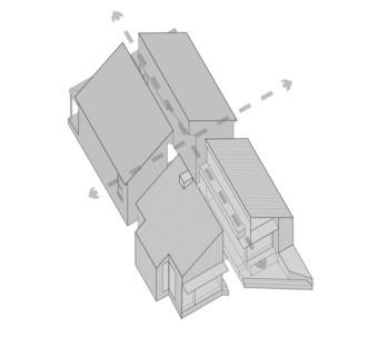 Split House von FMD Architects: zwei Identitäten für ein Haus