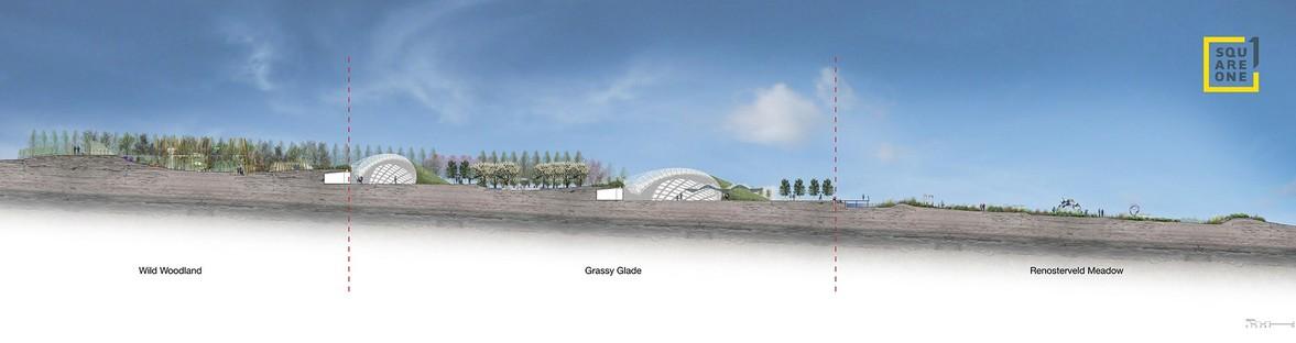 The Garden Cafe entworfen von Steyn Studio zusammen mit SquareOne, Meyers und Liam Mooney für Bosjes, Südafrik