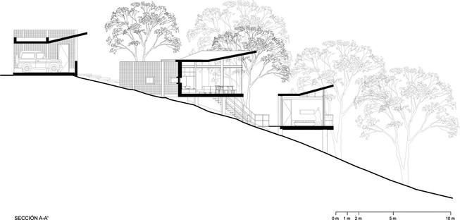 WEYES: Haus im Wald von Barrial, Santiago, Mexiko