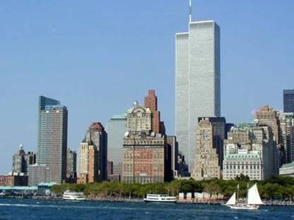 Die Twin Towers des World Trade Center in New York