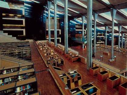 Die Bibliothek von Alexandria in Ägypten