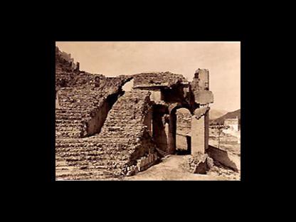 Sanierung des Römischen Theaters von Sagunto, Spanien, 1985-1993