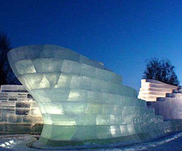 Zaha Hadid und Cai Guo-Quiang<br> The Snow Show 2004