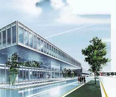 Maranello, zwei neue Gebäude für Ferrari.<br> Fuksas und Visconti, 2004