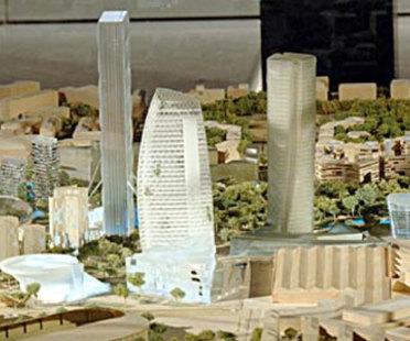 Mailand. Ehemalige Mustermesse<br> City Life. Libeskind, Hadid, Isozaki, Maggiora. 2004