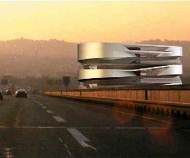 Mercedes-Benz Museum in Stuttgart.<br> UN Studio