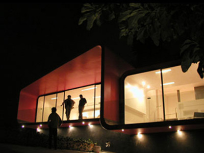 Tecamachalco (Mexiko City). Rote Dependance. Michel Rojkind. 2003
