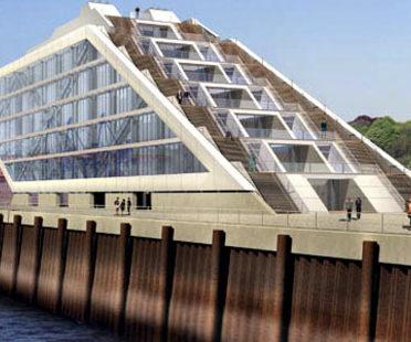 Dockland-Bürohaus. Hamburg<br> Brt Architekten. 2005
