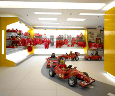 Ferrari Store Milano. <br>Massimo Iosa Ghini. 2005